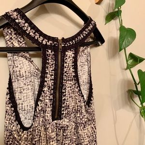 3/$30 embellished halter loose fit tank with zip